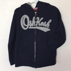 Boy's Oshkosh Full Zip Navy Blue Hoodie Sz - 6